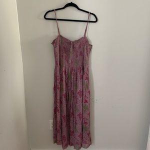 Kimichi Blue Gauzi Smocked Midi Dress